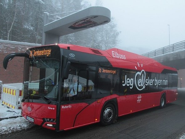 Electric bus in Oslo, Norway