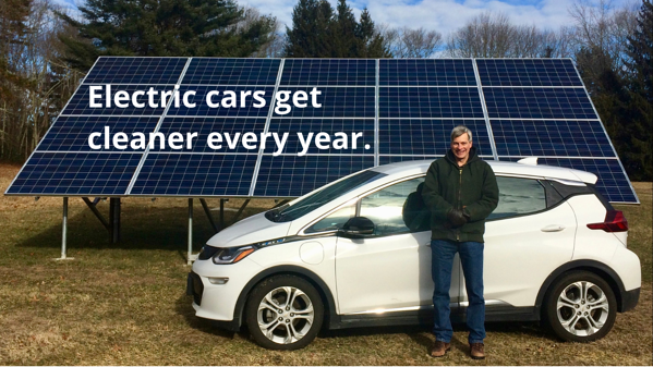 Electric cars get cleaner every year. (1)