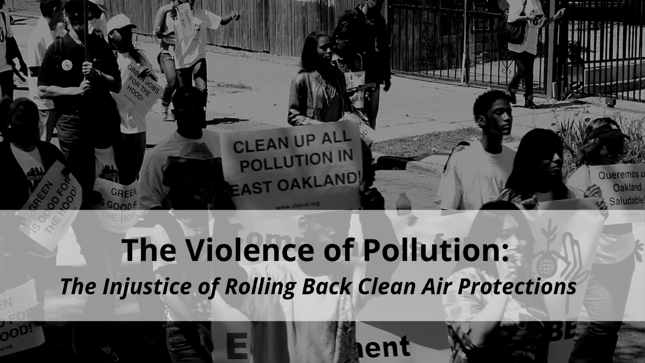 The Violence of Pollution blog cover