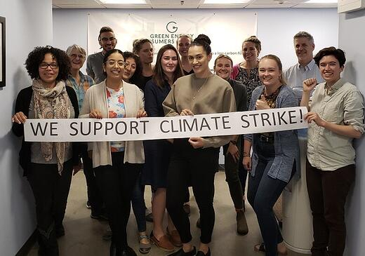 We support climate strike