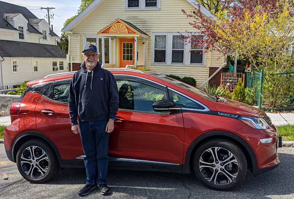 John Fitzmaurice with Chevy Bolt
