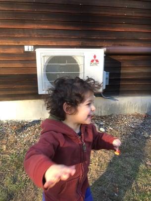 heat pumps outside