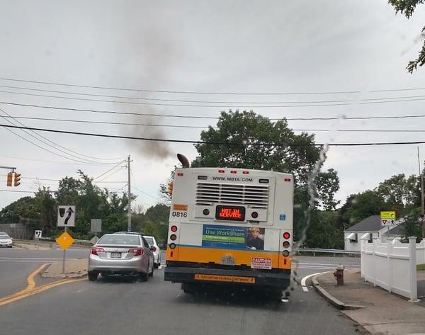 mbta bus smog dirty diesel